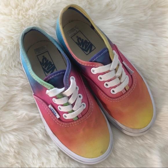 Girls Vans Tie Dye Rainbow Shoes Sz